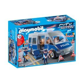 Playmobil - Samochód policyjny z blokadą drogową 9236