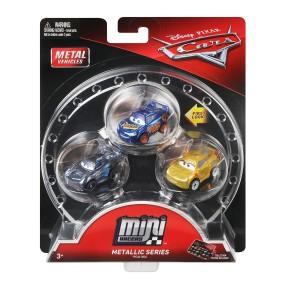 Mattel Auta - Mikroauta 3-pak metaliczny Cruz, Jackson i Zygzak FPC48