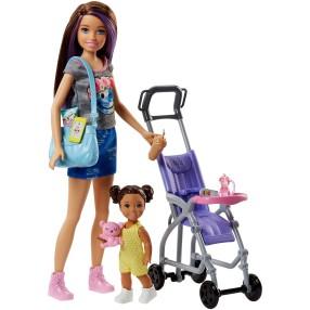 Barbie - Lalka Skipper Opiekunka i dziewczynka FJB00