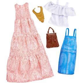 Barbie - Ubranka i akcesoria dla lalki 2-pak FKT31