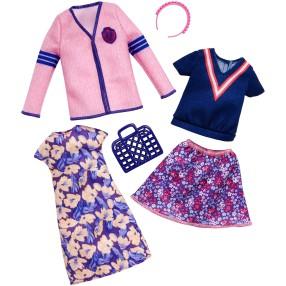Barbie - Ubranka i akcesoria dla lalki 2-pak FKT29
