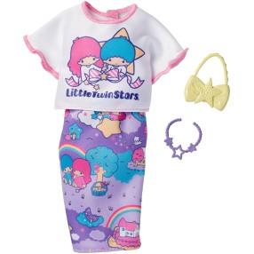 Barbie - Ubranka z ulubieńcami Hello Kitty dla lalki FKR70