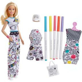 Barbie Crayola - Lalka Kolorowa Moda + akcesoria FPH90
