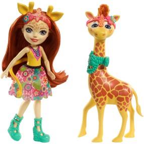 EnchanTimals - Lalka Gillian Giraffe + Zwierzątko Pawl FKY74