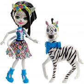 EnchanTimals - Lalka Zelena Zebra + Zwierzątko Hoofette FKY75