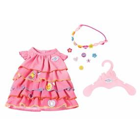 BABY born - Letnia sukienka z przypinkami dla lalki 824481 A