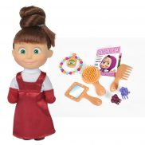 Simba Masza i Niedźwiedź - Lalka Masza Kolorowe włosy z akcesoriami Brązowe 9301026 A