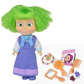 Simba Masza i Niedźwiedź - Lalka Masza Kolorowe włosy z akcesoriami Zielone 9301026 B