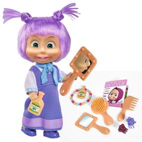 Simba Masza i Niedźwiedź - Lalka Masza Kolorowe włosy z akcesoriami Fioletowe 9301026 C