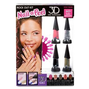 Nail-a-Peel - Zestaw tematyczny do paznokci 3D Rock Out 550136