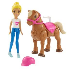 Barbie On The Go - Lalka + Kucyk FHV63