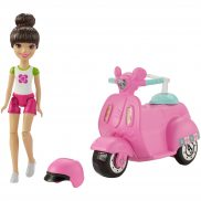 Barbie On The Go - Lalka + Skuter FHV80