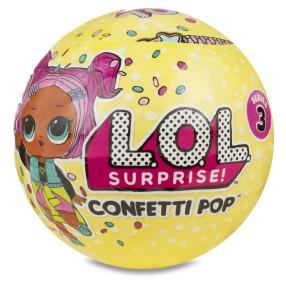 L.O.L. SURPRISE - Confetti Pop LOL w kuli niespodziance Seria 3.1 551553