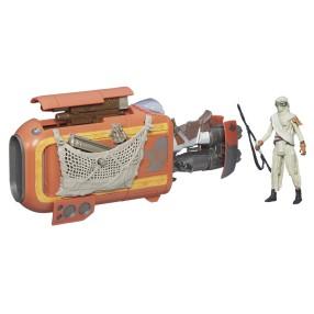 Hasbro Star Wars E7 - Pojazd klasy I Skuter Repulsorowy + Rey (Jakku) B3676