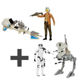 Hasbro Star Wars E7 - ZESTAW Skuter Repulsorowy B3918 + Maszyna Krocząca AT Walker B3919