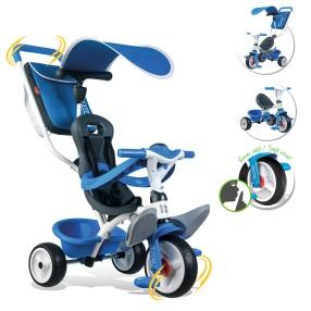 Smoby - Rowerek Baby Balade 2 3w1 niebieski 741102