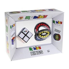 Rubik - Zestaw Kostka Rubika 2x2 + Układanka logiczna Pierścienie 3010