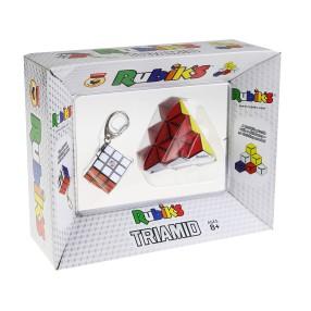 Rubik - Zestaw Kostka Rubika brelok + Układanka logiczna Triamid 3011