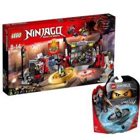 LEGO Ninjago - ZESTAW Kwatera główna S.O.G. 70640 + Nya - mistrzyni Spinjitzu 70634