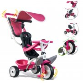 Smoby - Rowerek Baby Balade 2 3w1 różowy 741101