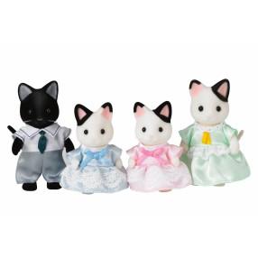 Sylvanian Families - Rodzina kotków z czarnym uszkiem 5181