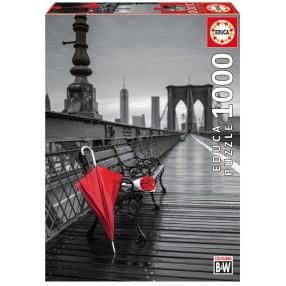 Educa - Puzzle Czerwona parasolka na Moście Brooklińskim 1000 el. 17691