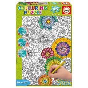 Educa - Puzzle do kolorowania - Duże Piękne Kwiaty 300 el. 17090