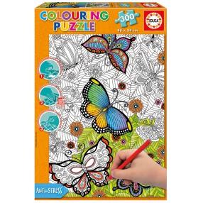Educa - Puzzle do kolorowania - Wszystkie dobre rzeczy są dzikie i wolne 300 el. 17089