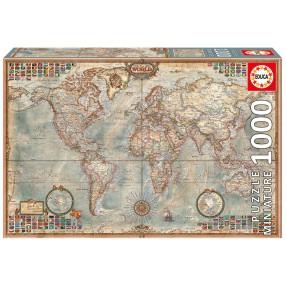 Educa - Puzzle Mapa polityczna świata Miniatura 1000 el. 16764
