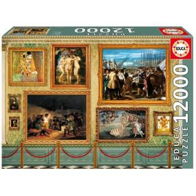 Educa - Puzzle Muzealne arcydzieła 12000 el. 17137