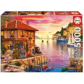 Educa - Puzzle Mediterranean Harbour Dominic Davison 5000 el. 17135