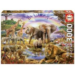 Educa - Puzzle Zwierzęta afrykańskie 3000 el. 17698