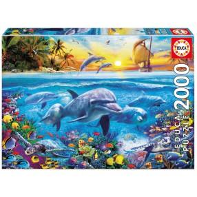 Educa - Puzzle Rodzina delfinów 2000 el. 17672