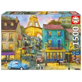 Educa - Puzzle Ulice Paryża 1500 el. 17122
