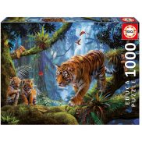 Educa - Puzzle Tygrysy na drzewie 1000 el. 17662