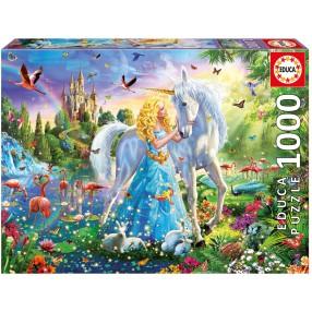 Educa - Puzzle Księżniczka i jednorożec 1000 el. 17654