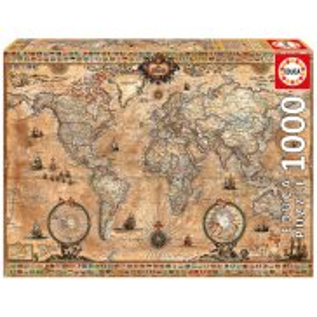 Educa - Puzzle Antyczna mapa świata 1000 el. 15159