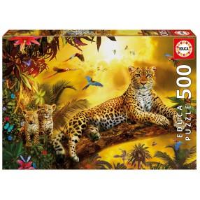 Educa - Puzzle Leopard i jego młode 500 el. 17736
