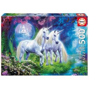 Educa - Puzzle Jednorożce w lesie 500 el. 17648