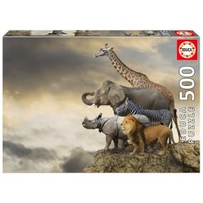 Educa - Puzzle Zwierzęta na klifie 500 el. 16737