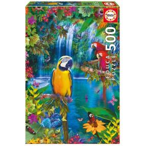 Educa - Puzzle Tropikalna kraina ptaków 500 el. 15512