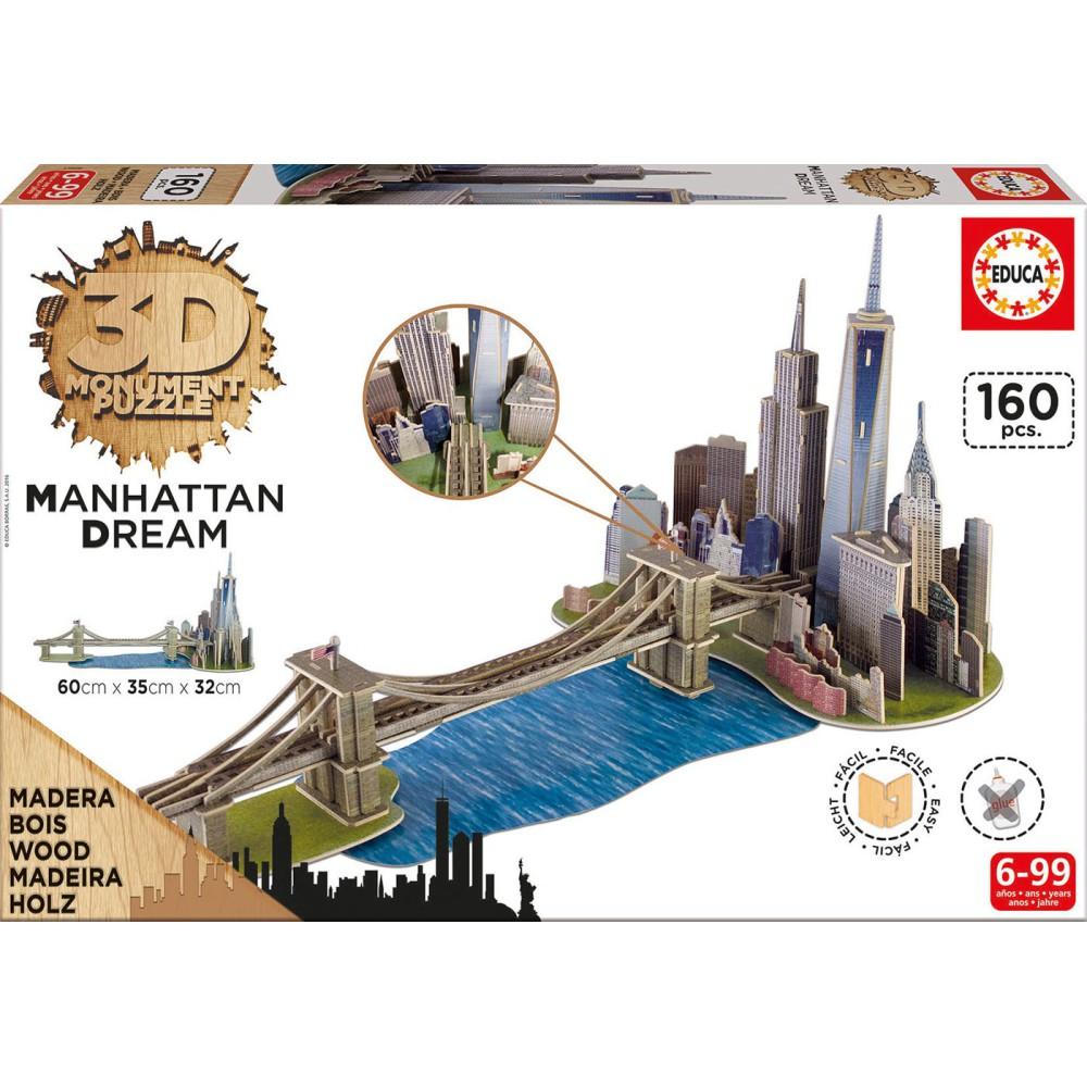 Educa - Puzzle 3D Manhattan 17000