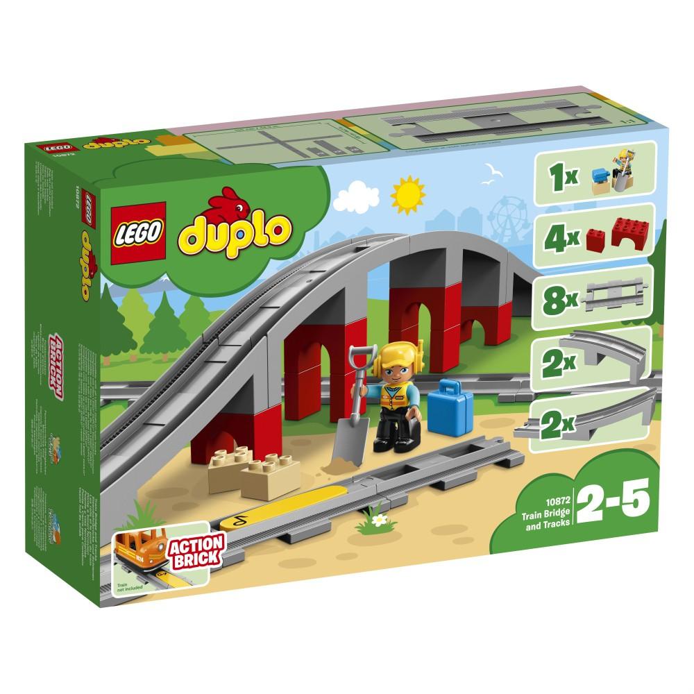 LEGO DUPLO Town - Tory kolejowe i wiadukt 10872