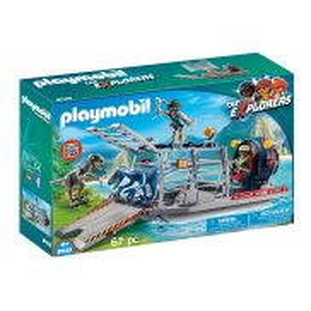 Playmobil - Łódź śmigłowa z klatką 9433
