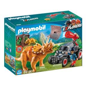 Playmobil - Samochód terenowy z działającą wyrzutnią sieci 9434