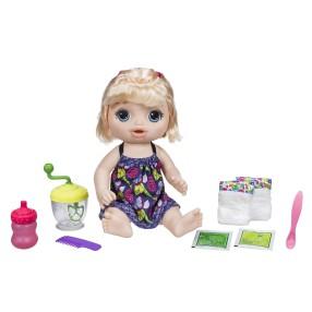 Hasbro - Baby Alive Lalka Słodka przekąska Blondynka E0586