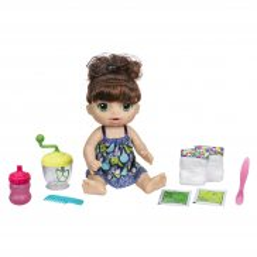 Hasbro - Baby Alive Lalka Słodka przekąska Brunetka E0587