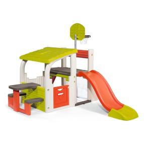 Smoby - Centrum zabaw, zjeżdżalnia, domek, ławeczka 840203