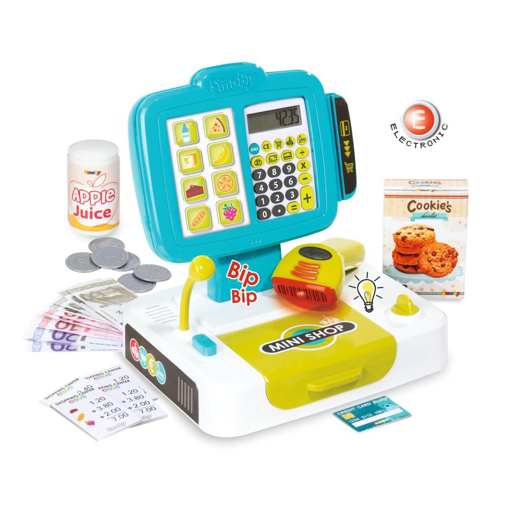 Smoby - Kasa sklepowa elektroniczna z panelem dotykowym i czytnikiem 350104
