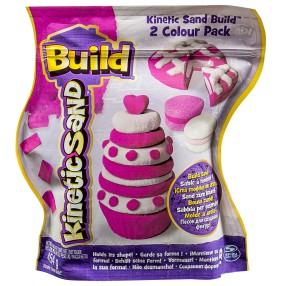 Kinetic Sand Build - Piasek konstrukcyjny 2 kolory 454g Różowy i biały 20072342